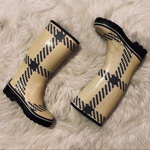 Kate Spade Rubber Rain Boots 6